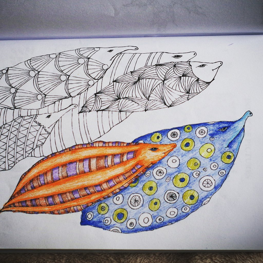 Colouring Gallery from The Amazing World of Leaves
