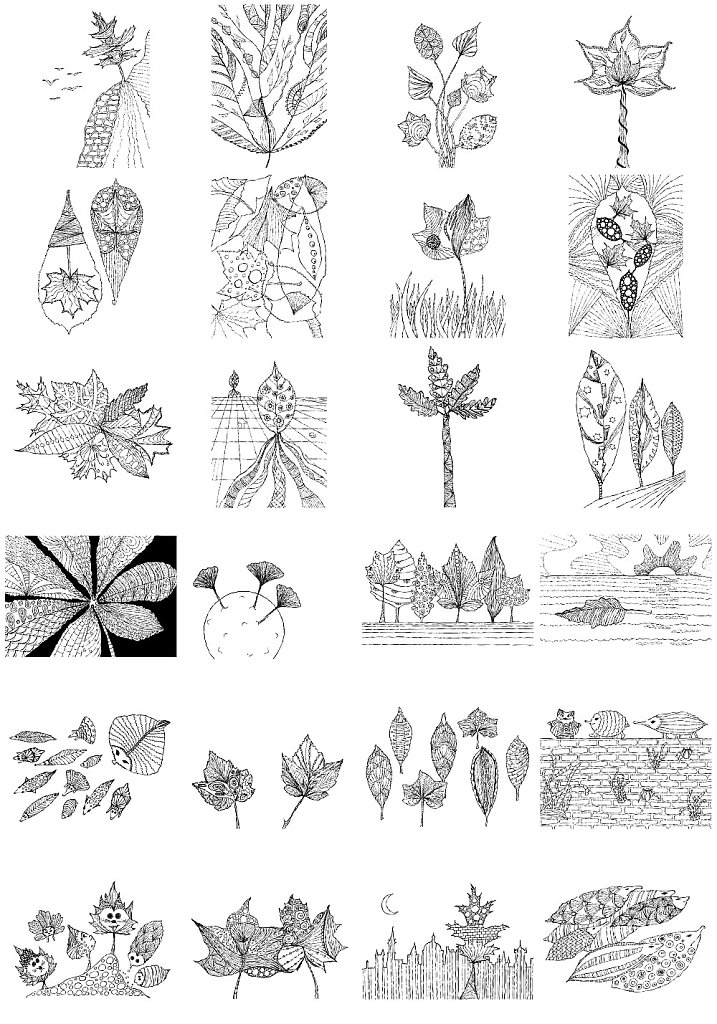 Index of all images for colouring