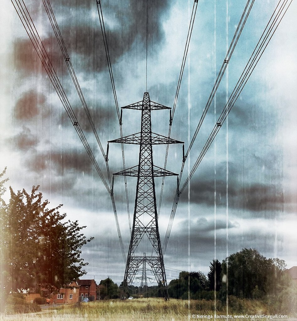 Energy pylon in Didcot #3