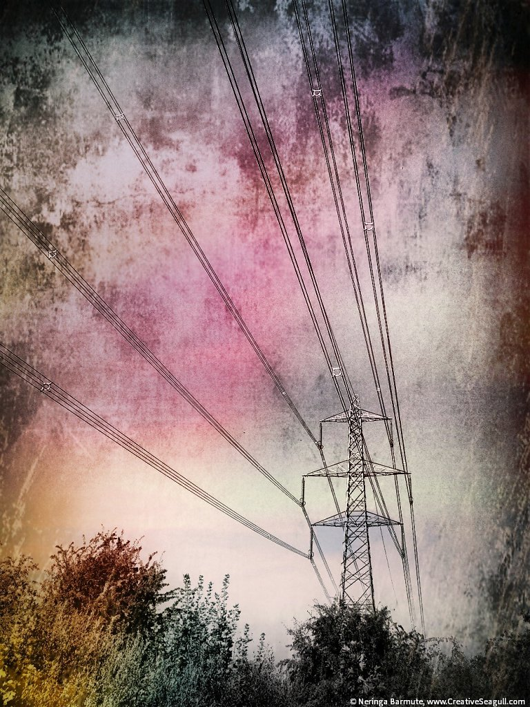 Energy pylon in Didcot #1