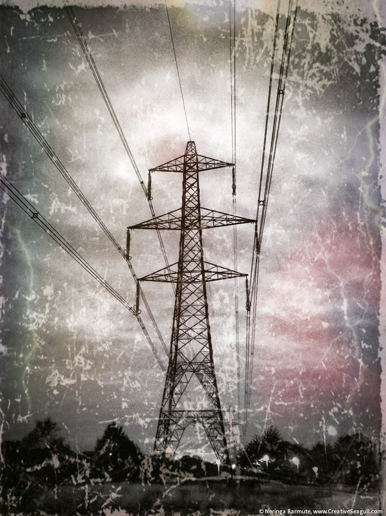 Energy pylon in Didcot #2
