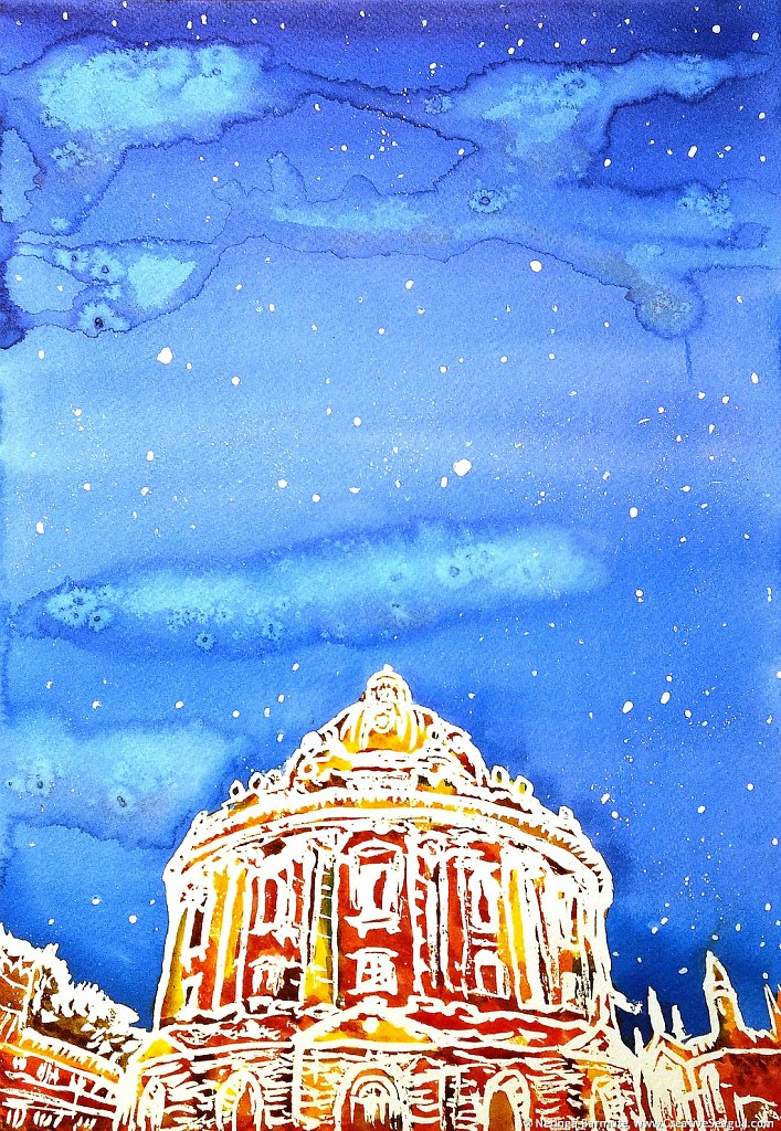 Radcliffe camera (library in Oxford), winter time